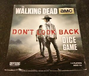 THE WALKING DEAD DON'T LOOK BACK DICE GAME COMPLETE CRYPTOZOIC 2014 LOVELY