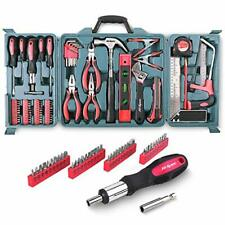 Hi-Spec 71 Piece Home Tool Kit DIY Hammer Pliers Saw Screwdriver Spanner Ratchet