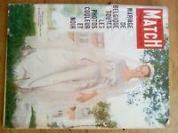 PARIS MATCH N°535 - 1959 MARIAGE PAOLA BELGIQUE