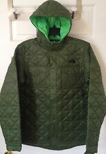 $110 NWT Boys The North Face Hudson Hadden Quilted Shirt Jacket Hooded Green XL