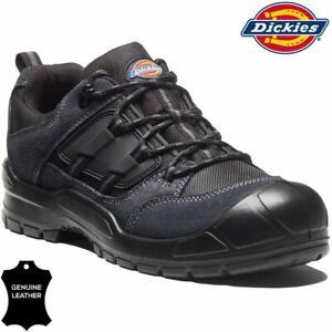 Mens DICKIES Safety Boots Ladies Leather Steel Toe Cap Work Shoes Hiking Trainer