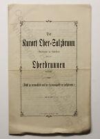Original Prospekt Kurort Ober-Salzbrunn Oberbrunnen Schlesien um 1885 Polen xz