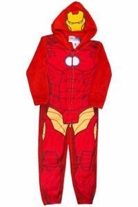 OFFICIAL MARVEL IRON MAN Boys Girls Kids Sleepsuit Pyjamas Ages 7-12 Yrs
