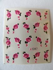 NAIL WATER TRANSFER STICKER DECALS - FLOWER PATTERN #1347