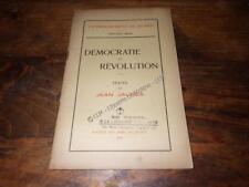 1919.Démocratie et révolution.Jean Jaurès