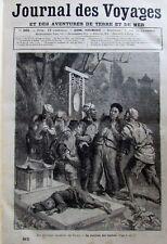 Zeitung der Voyages 365 von 1884 China Société Secret Bestrafung Verräter