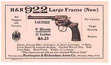 H & R  922  - .22 Caliber, 9 Shots Lg. Frame  REVOLVER ADVERTISING - Circa 1930