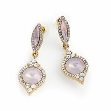 Pink Opal Effect Drop Earrings