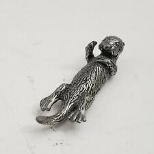 Pewter Otter Miniature Mini Figurine