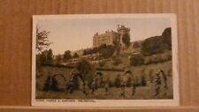 Postcard unposted Montgomeryshire, Powis castle & gardens