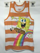 SpongeBob SquarePants Cartoon Tank Top Sleeveless T-Shirt Youth S 7/8