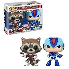 Funko Marvel Vs Capcom POP Rocket Vs Mega Man X Set NEW Toys New In Stock