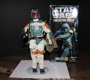 "Star Wars Collector Series BOBA FETT Bounty Hunter 12"" Inch 1996 Kenner EXC"