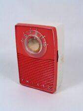 1959 PHILCO T50 126 5 Transistor pocket radio, Red & White