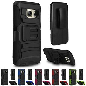 For Samsung Galaxy S7 Edge Protective Hybrid Hard Holster Belt Clip Case Cover