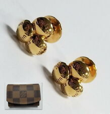 ef32597aefef Louis Vuitton Yellow Gold Cuff-Links with Case Jewelry BX3-LVCL87