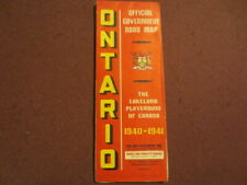 ONTARIO CANADA OFFICIAL GOVERNMENT ROAD MAP 1940-1941