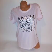 Victoria Secret T Shirt Large Light Pink Angel Metallic Short Sleeve Crew Neck