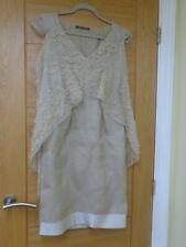Alberta Ferretti beige 100% silk dress size UK 6, US 2