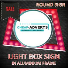 One sided Round LED Light Box 800mm - Custom Shop Sign Display!.