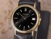 Tissot Swiss Made Men's 31mm Quartz Gold Plated c2000 Luxury Dress Watch DSI30