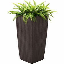 Best Choice Products Self Watering Wicker Planter   Brown