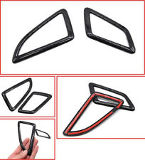 2x Carbon Fiber Air Condition A/C Vent Frame Trim Cover o For Honda Civic 16-17