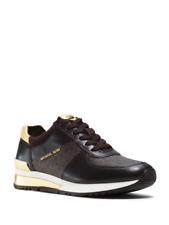 New Michael Kors Allie Wrap Women Brown Trainer Sneakers