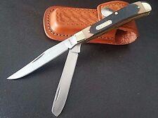 "Schrade3.9"" Old Timer 2BLD Gunstock Trapper 94OT Folding Pocket Knife+FREE Pouch"