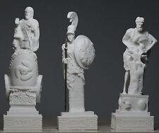 HEPHAESTUS & ARES & Goddess ΑΤΗΕΝΑ * SET OF 3* Greek Gods Statue Sculpture 6.3΄΄