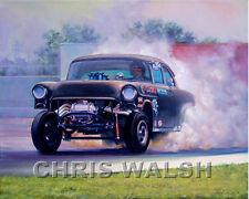 "Drag Racing action prints..""Far Beyond Driven"" 55 Chev Gasser by Eric Carlson"