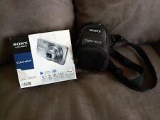 SONY CYBER-SHOT DSC-W570 16.1MP DIGITAL CAMERA (SILVER) IN BOX W/ EXTRAS LQQK