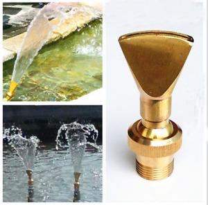 """1"""" DN25 Female Fan Shape Sprinkler Brass Yard Garden Water Fountain Nozzle"""