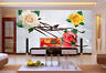3D Tricolor Flowers Squid Paper Wall Print Wall Decal Wall Deco Indoor Murals