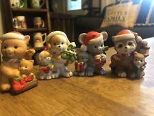 Vintage Homco 5180 Compete Set of 4 Christmas Animal Figurines