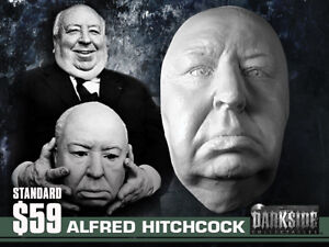 ALFRED HITCHCOCK (with eyes) LIFE-SIZE LIFEMASK Life Cast in Lightweight Resin