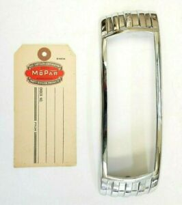 1948 DeSoto S-8 Deluxe Right  Tail Light Bezel Door Chrome, 904977 New Old Stock