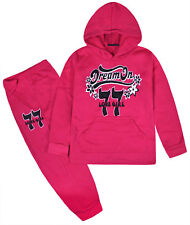 Girls Tracksuit 2PSC New Kids Hoodie And Joggers Slogan Set Ages 2 - 10 Years