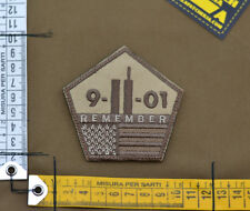 "Ricamata / Embroidered Patch ""Remember 9-11-01"" Subdued with VELCRO® brand hook"