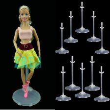 5x Doll Holder Stand Figure Display Clear Translucent For Barbie Doll 1/6 30cm