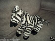 Animal Planet Realistic Lifelike Wild Zebra Plush Doll Figure Beanbag Toy