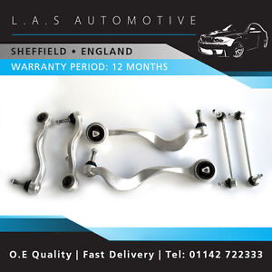 E60 5 Series Complete Front Suspension Kit Wishbones Track Control Arms Links