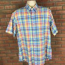 Paul & Shark L large cotton short sleeve button-front multi-color mens Shirt