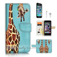 ( For iPhone 6 / 6S ) Wallet Case Cover P4131 Giraffe