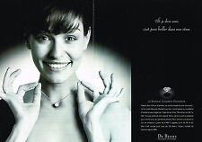 PUBLICITE  ADVERTISING  1998   DE BEERS   joaillier ( 2 pages)