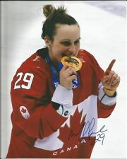 MARIE PHILIP POULIN signed 8x10 photo TEAM CANADA