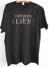 Comic Con 2010 Cowboys and Aliens Black Promo Tee T Shirt 7-24-10 Large