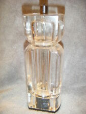 """TRUDEAU """"NEOVE DESIGN""""  CLEAR ACRYLIC ADJUSTABLE PEPPER GRINDER/MILL very nice"""