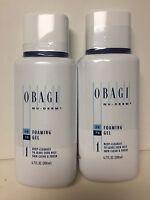 Obagi Nu Derm X 2 FOAMING GEL 6.7 oz Brand New Sealed 2 BOTTLES