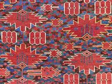 "Pre 1900 6x10 Ca 1850 BESHIR TURKMEN ""Poppy Field Design"" Main Carpet. A+ colors"